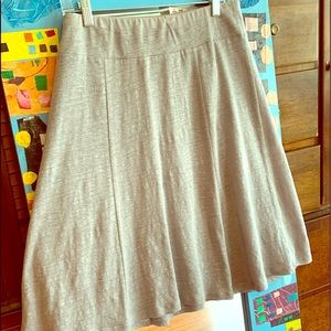 Eileen Fisher gray 100% linen flair skirt size PM
